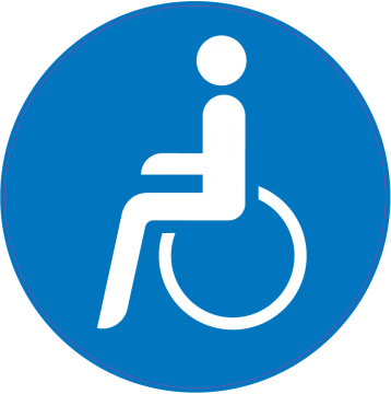 Handicap Stickers For Tables Ada Designated Accessible