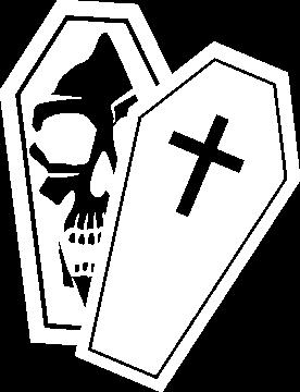 Sticker Cercueil Tête De Mort