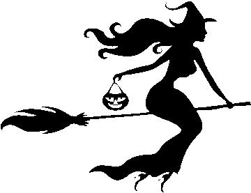 Sticker Halloween Sorcère Balai 2