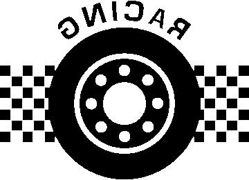 Autocollant Racing Pneu