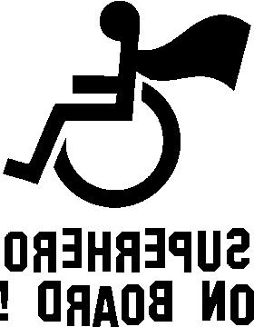 Sticker Handicapé Superhero