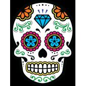 Autocollants Tetes De Mort Mexicaines Autocollants Stickers