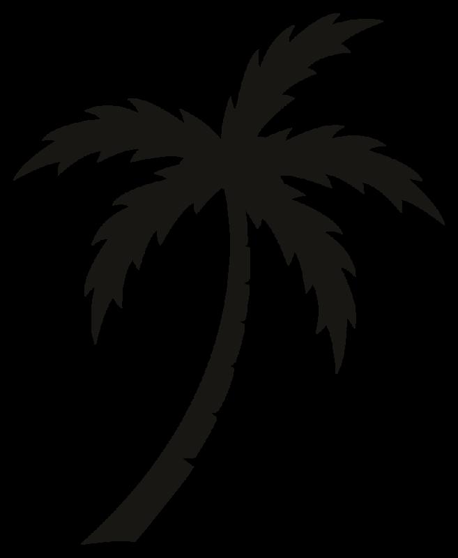 Stickers palmier autocollants stickers - Dessin palmier ...