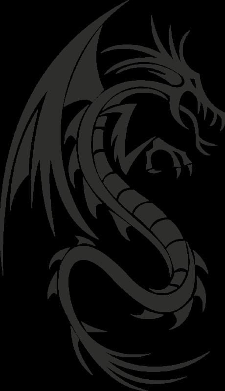 sticker dragon 6 1 autocollants stickers. Black Bedroom Furniture Sets. Home Design Ideas