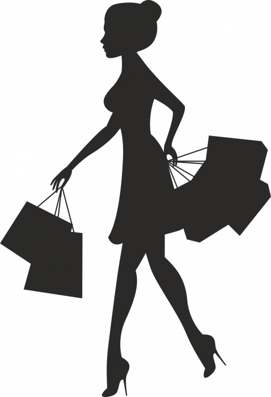 Sticker Femme Shopping Autocollants Stickers