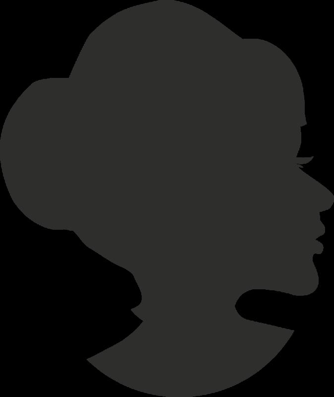 sticker femme visage silhouette 5 autocollants stickers. Black Bedroom Furniture Sets. Home Design Ideas