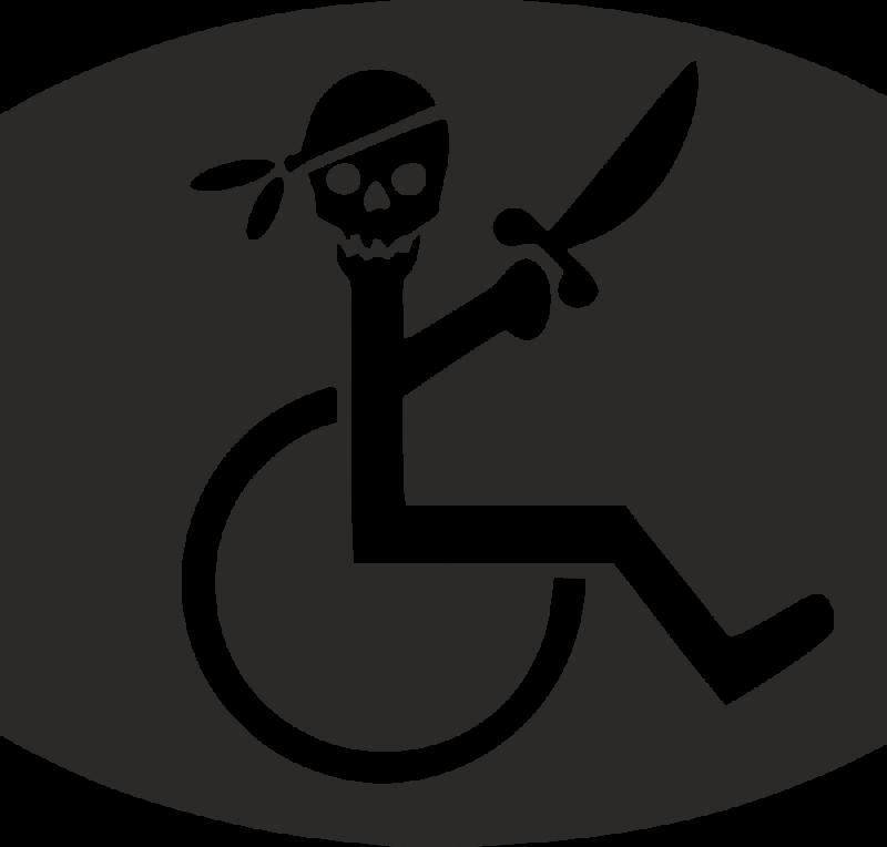 Sticker Handicap 233 Pirate Autocollants Stickers