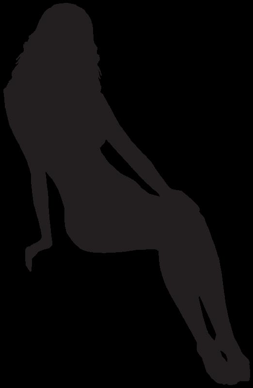 Silhouette femme sexy 51 autocollants stickers - Film transparent pour table en verre ...