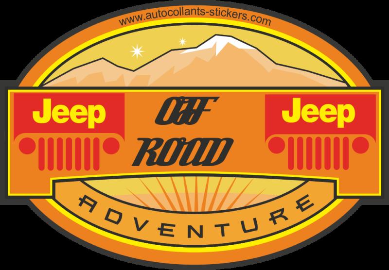 Autocollant deco 4x4 jeep autocollants stickers for Idee deco 4x4