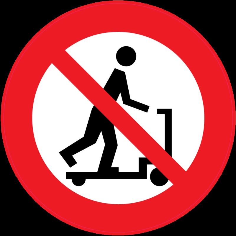 panneau interdiction de faire de la trotinette autocollants stickers. Black Bedroom Furniture Sets. Home Design Ideas