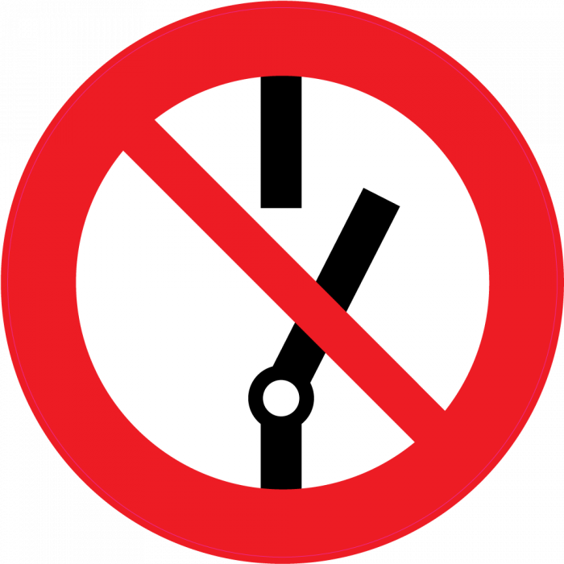 panneau interdiction de faire fonctionner autocollants stickers. Black Bedroom Furniture Sets. Home Design Ideas