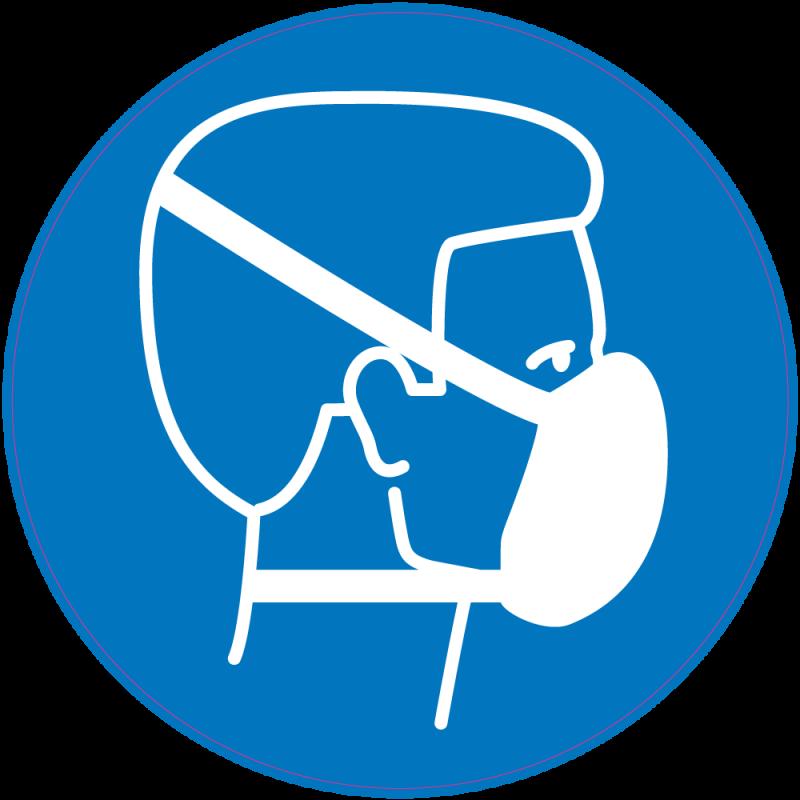 panneau obligation porter masque protection respiratoire. Black Bedroom Furniture Sets. Home Design Ideas