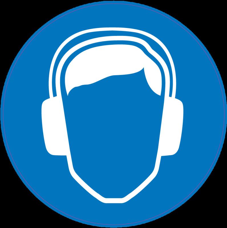 Panneau obligation porter anti bruit de s curit autocollants stickers - Panneau anti bruit interieur ...