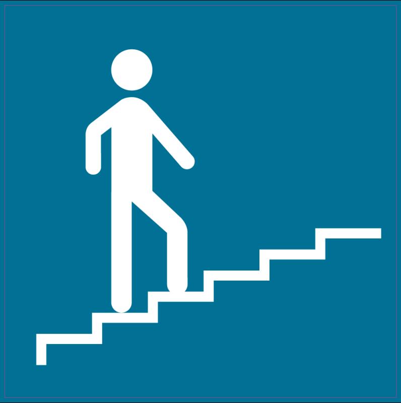 panneau indication monter escaliers droit autocollants stickers. Black Bedroom Furniture Sets. Home Design Ideas