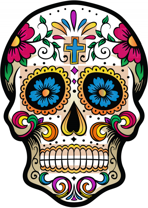 Calavera Tete De Mort Mexicaine 1 Autocollants Stickers