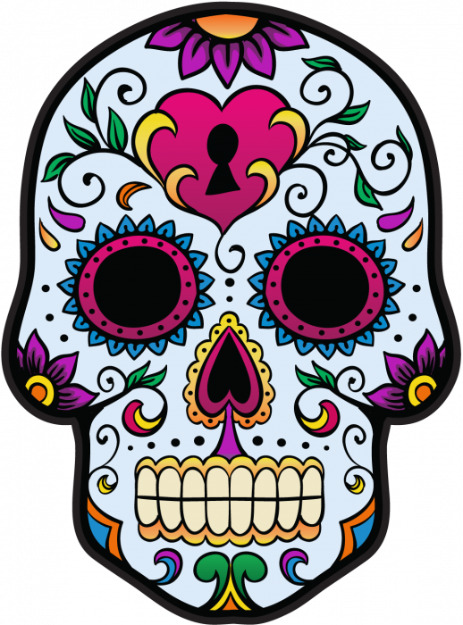 calavera tete de mort mexicaine 3 autocollants stickers. Black Bedroom Furniture Sets. Home Design Ideas