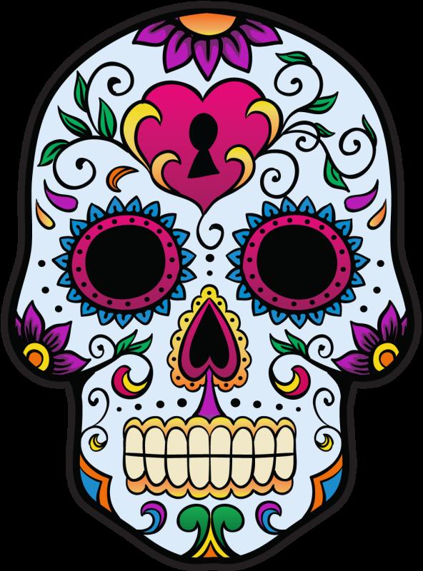 Calavera tete de mort mexicaine 3 autocollants stickers - Tete mort mexicaine ...