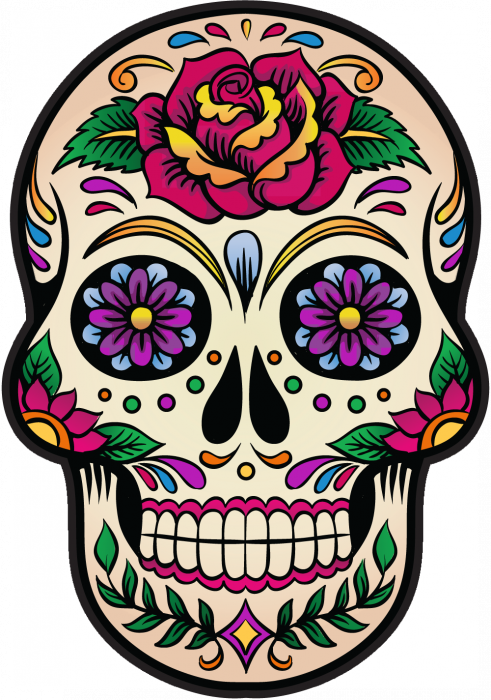 Calavera tete de mort mexicaine 4 autocollants stickers - Bac plastique transparent ikea ...