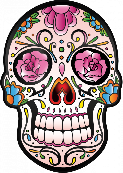 calavera tete de mort mexicaine 5 autocollants stickers. Black Bedroom Furniture Sets. Home Design Ideas