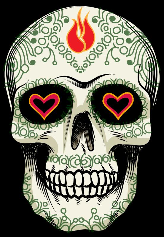 calavera tete de mort mexicaine 17 autocollants stickers. Black Bedroom Furniture Sets. Home Design Ideas
