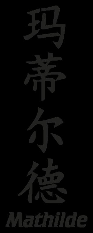 Fabuleux Prenom Chinois Mathilde | Autocollants-Stickers JX57