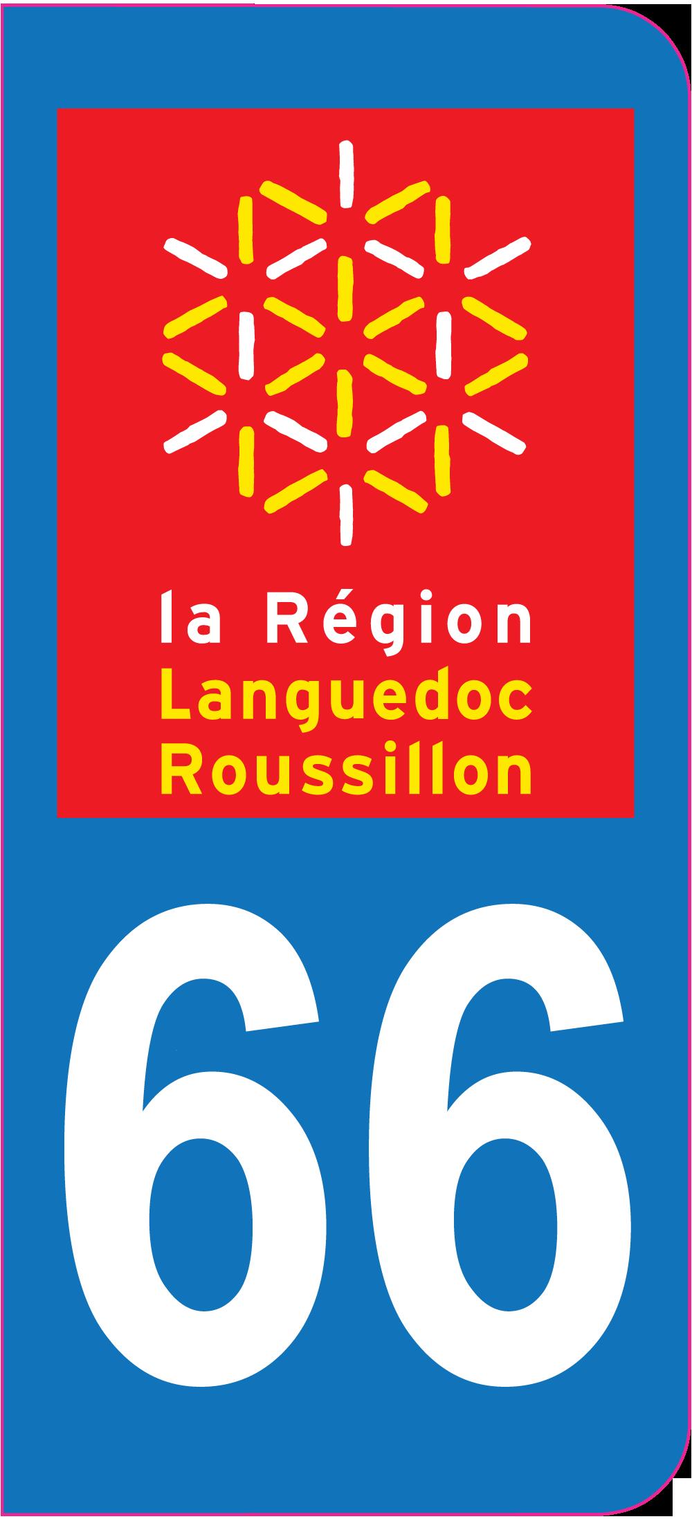 sticker immatriculation  pyrenees orientales ref