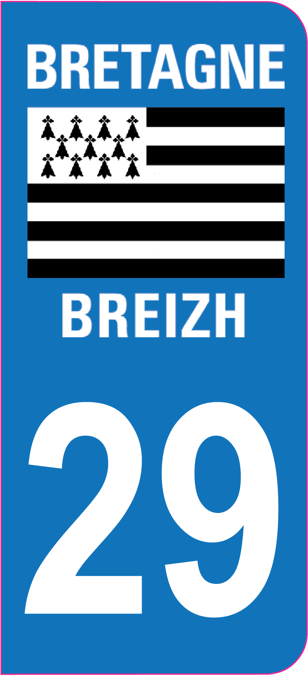 sticker immatriculation 29 finist re autocollants stickers. Black Bedroom Furniture Sets. Home Design Ideas