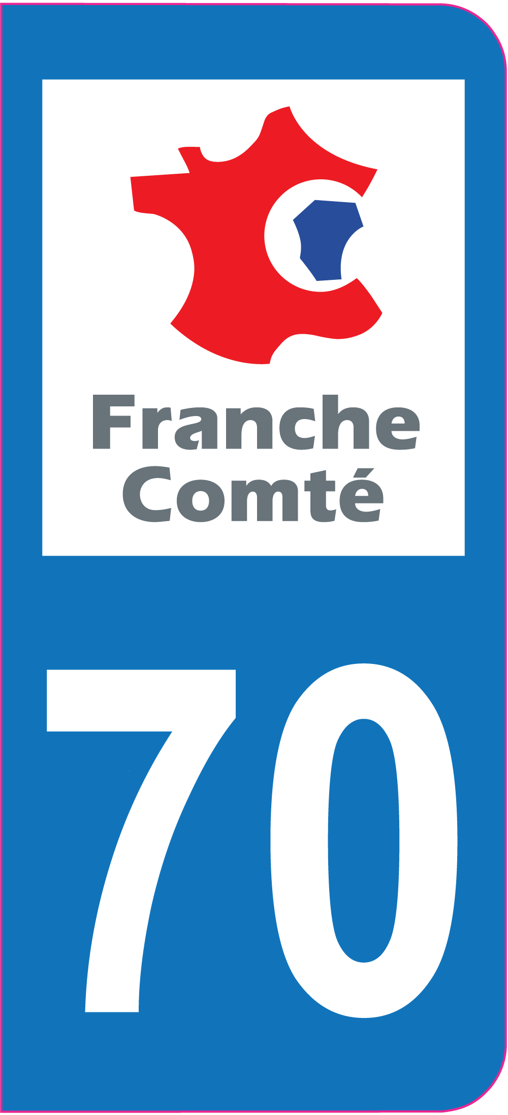 Sticker immatriculation 70 haute sa ne autocollants for 70 haute saone