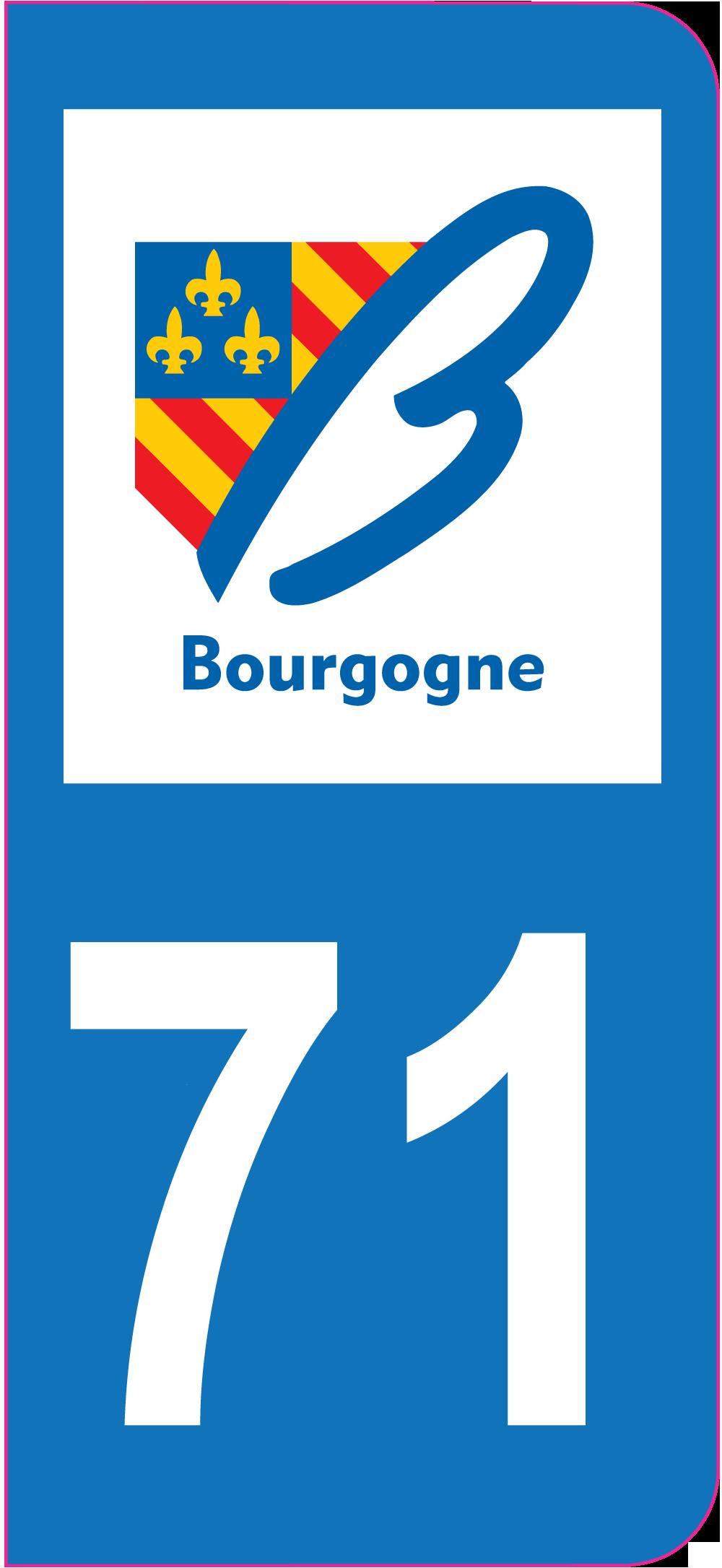 Sticker immatriculation 71 sa ne et loire autocollants for 71 haute saone
